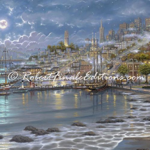 Post_San_Francisco_Moonlit_Bay-500x500 by Robert Finale Editions